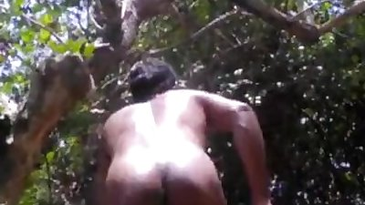 Indian Desi Nude Boy Play With Trees In The Forest